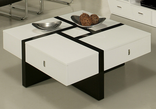 7 black and white coffee tables for a modern living room cute furniture Black and white coffee table