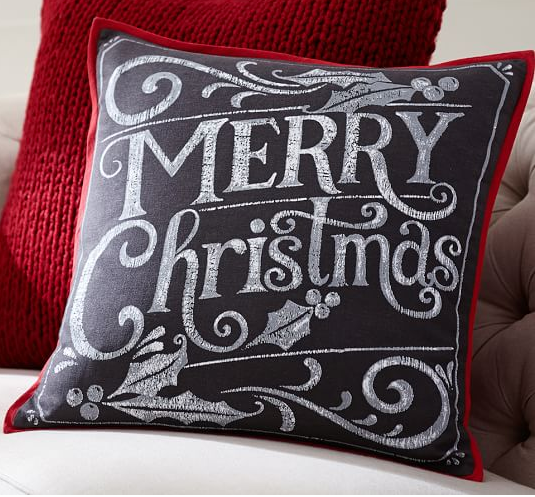 Merry Christmas Decoration Pillow Cover