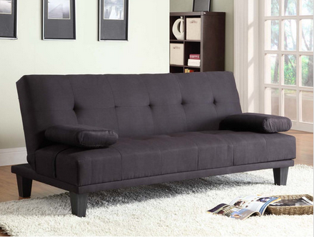 Milton Black Convertible Sleeper Sofa