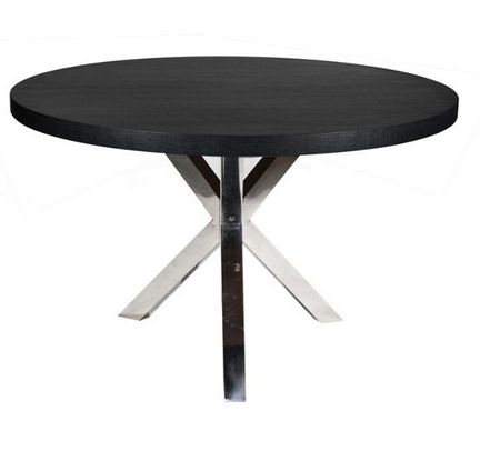 9 dark round dining tables for a contemporary dining room for Black round dining table