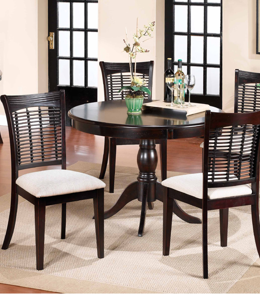 9 dark round dining tables for a contemporary dining room for Cute kitchen tables