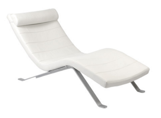White Indoor Chaise Lounger