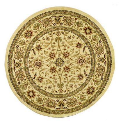 Traditional Round Beige Rug
