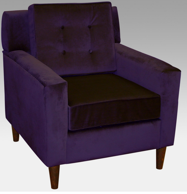 7 contemporary purple arm chairs for your living room for Cute side chairs