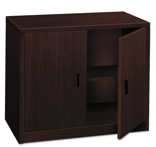 Amazing HON Mahogany Storage Cabinet With Doors