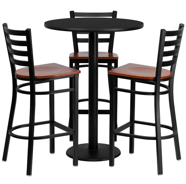 Flash Furniture 4 Piece Pub Table Set  sc 1 st  Cute Furniture & 6 Contemporary Black Pub Table Sets - Cute Furniture