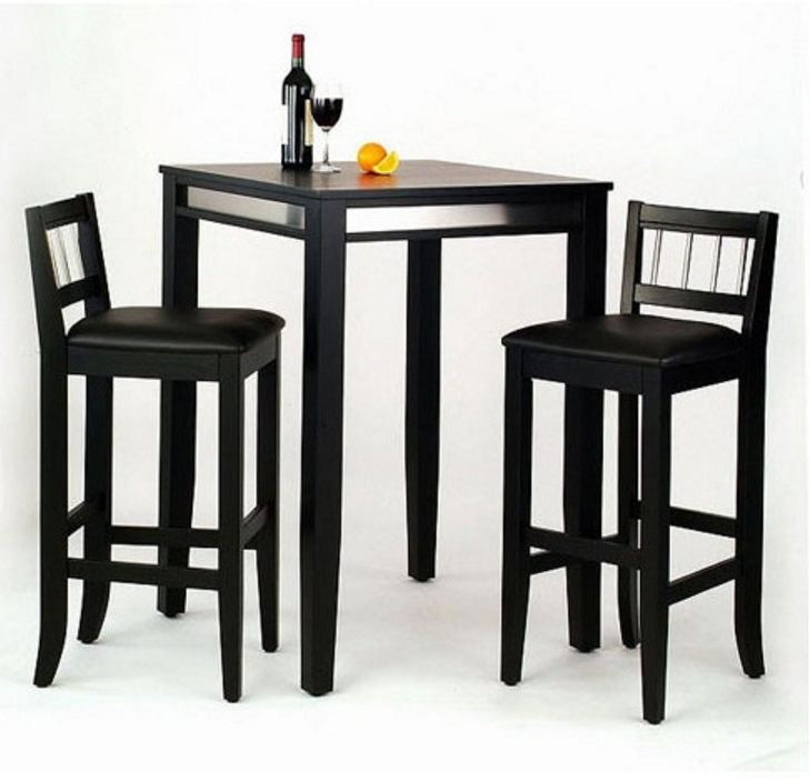 Home Styles Manhattan Black Pub Table Set