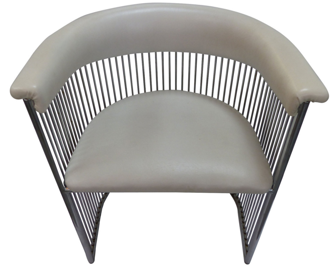 Midcentury Chromed Barrel Chair