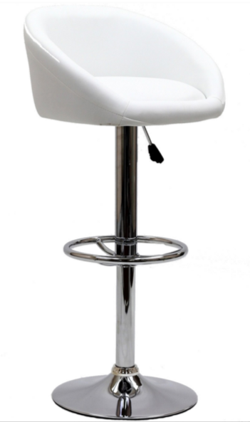 8 White Modern Bar Stools With Low Back Cute Furniture