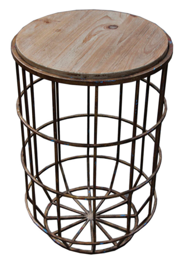 SagebrookHome Koji Metal Round Table