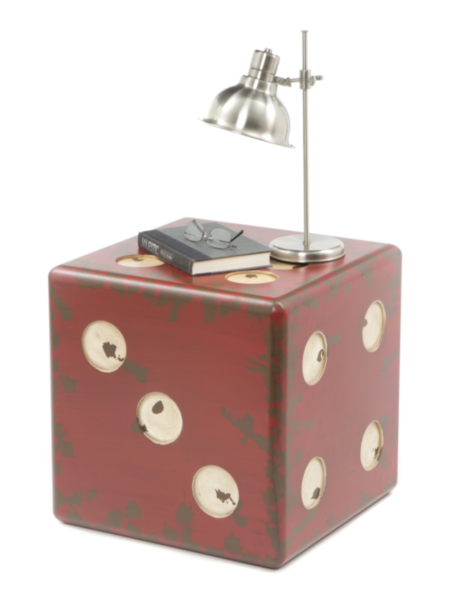 Industrial Uttermost Dice End Table