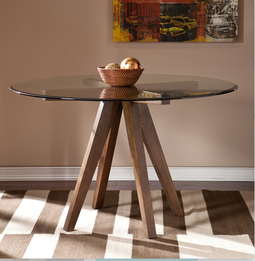 Mid-Century Modern Wooden Round Dining Table By Wildon Home