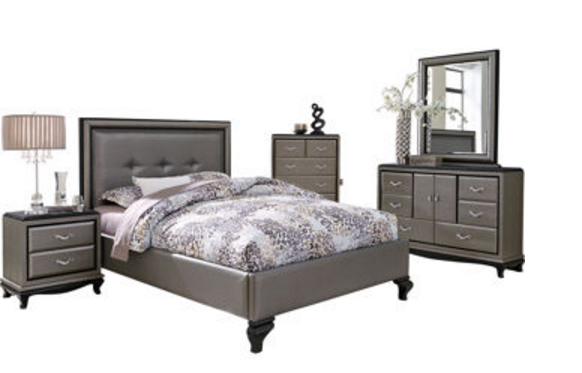 6 contemporary gray bedroom sets for Gray bedroom furniture sets