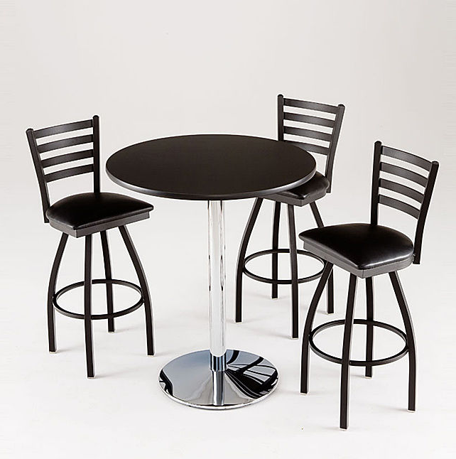 6 contemporary black pub table sets cute furniture for Cute dining table