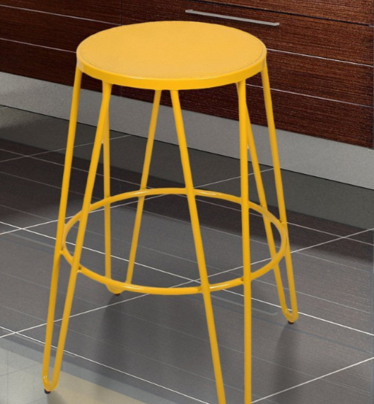 yellow bar stool simple