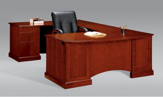 Belmont Executive Desk with 6 Drawers