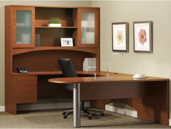 brighton series u shape computer desk with hutch by mayline