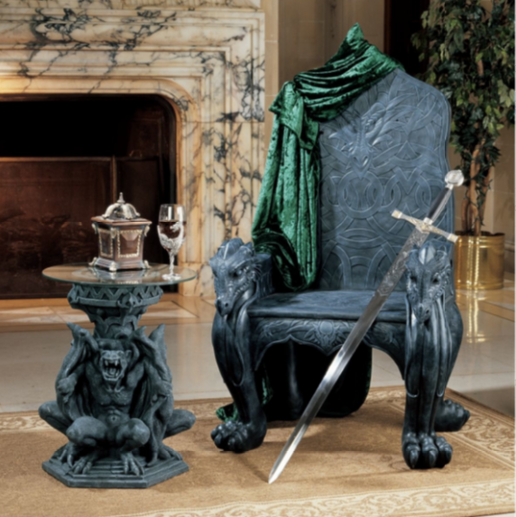 Celtic Dragon Throne Arm Chair