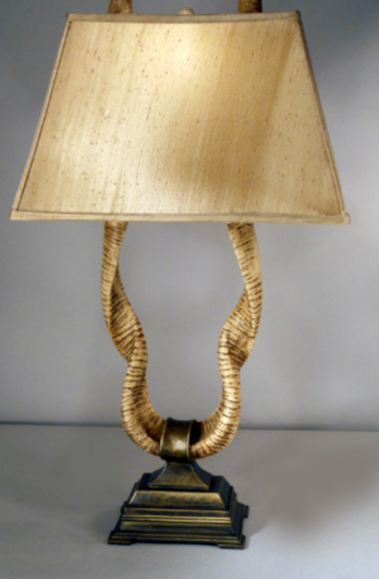 Horn 33.5_ H Table Lamp with Empire Shade