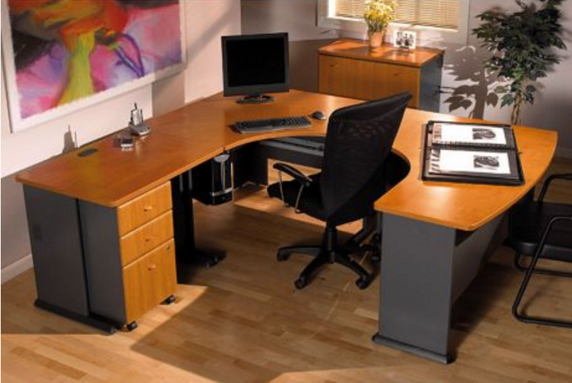 Series A Left Bow U-Desk