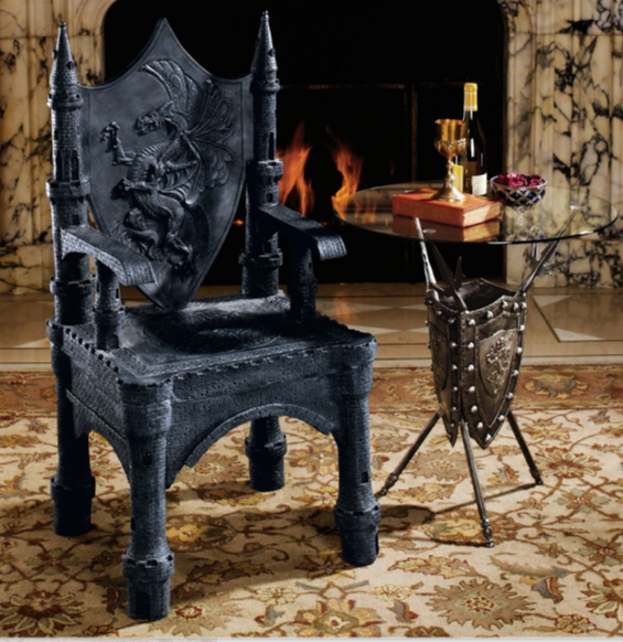 The Dragon of Upminster Castle Throne Arm Chair