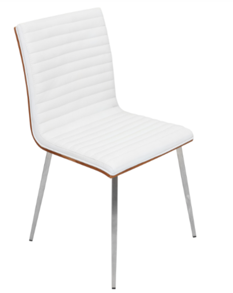 8 white dining chairs for a modern dining room cute for Cute side chairs