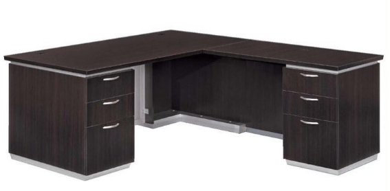 laminate executive right l-shaped desk