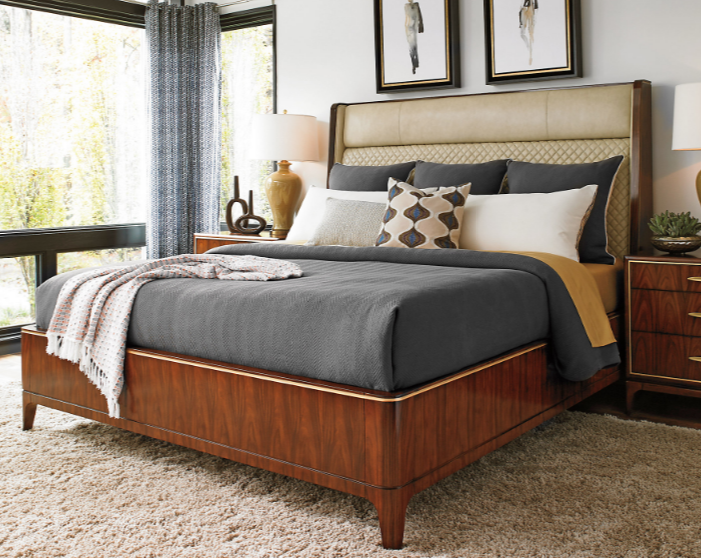 Empire Platform Bed, Hazelnut