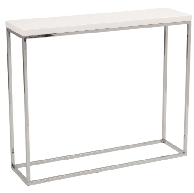 Sandor 30_ Console Table, White Lacquer