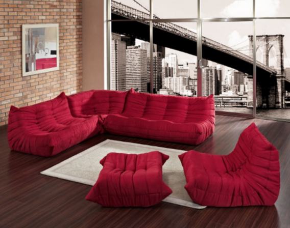 7 Modern Red Living Room Sets - Cute Furniture