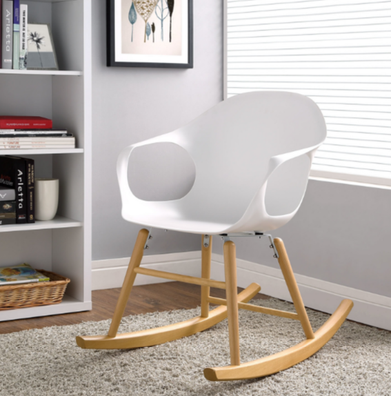 White Indoor Modern Rocking Chairs - Cute Furniture