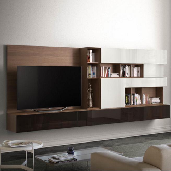 Luxurious entertainment centers for a modern living room cute