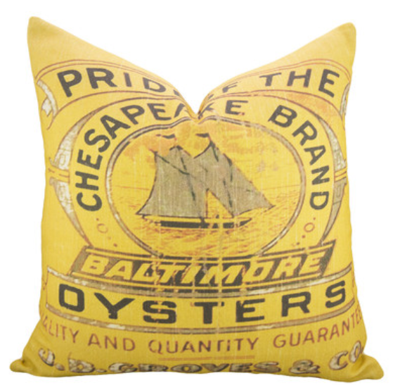 thewatsonshop-oysters-cotton-throw-pillow