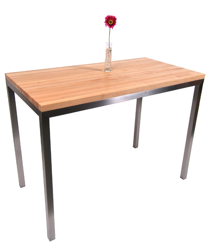 7 prep tables with wood top for your kitchen cute furniture for Cute kitchen tables