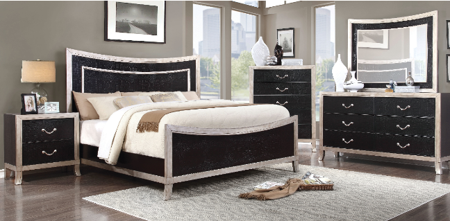 Enitiallab Farrah Upholstered Panel Bed