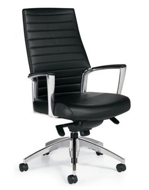 8 Stylish Black Leather High Back Executive Chairs Cute