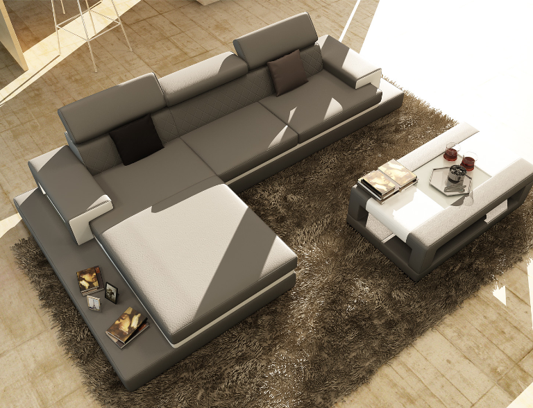 classy hokku designs coffee table. hokku designs sophia three piece grey leather sectional  7 Modern Grey Sectional Sofas For Your Living Room Cute Furniture