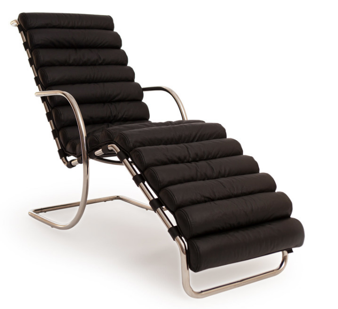 6 black chaise lounges for Cute black chairs