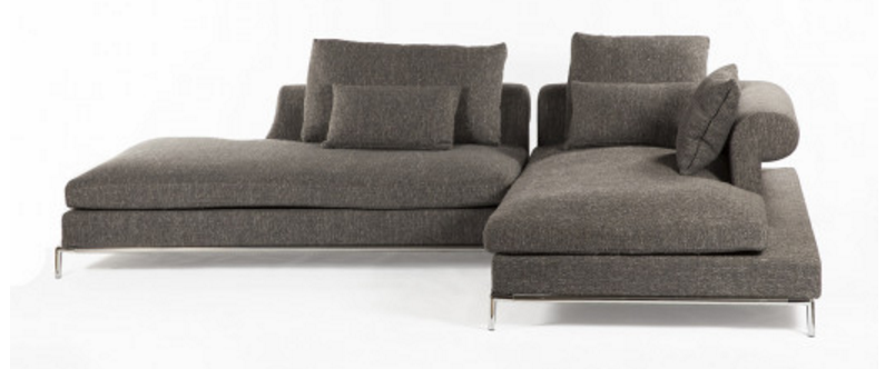 Modern Evon Sectional Sofa Grey