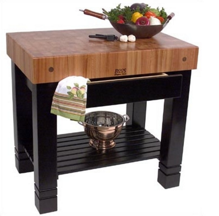 7 prep tables with wood top for your kitchen cute furniture - Table basse rouge et noir ...