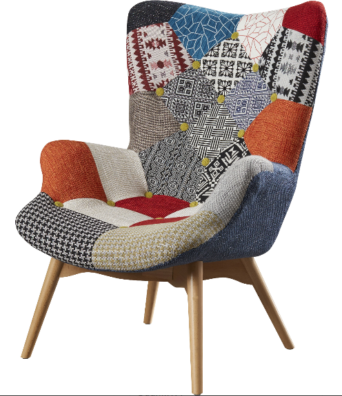 Genial From: Bungalow Rose Malini Button Patchwork Upholstered Armchair