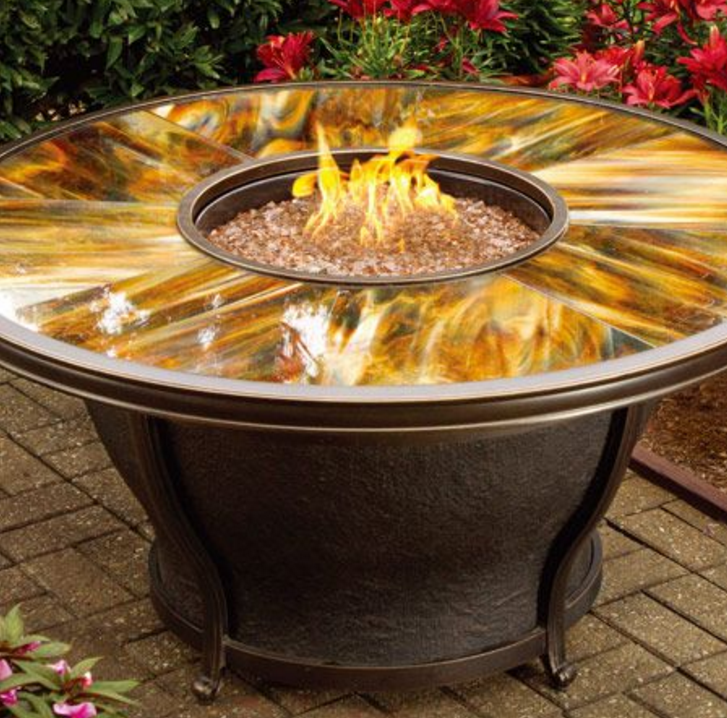 Oakland Living Ab Moonlight Gas Fire Pit Table