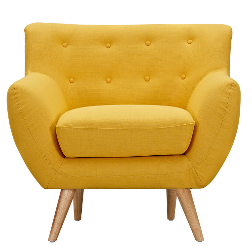 6 yellow armchairs for a retro home cute furniture for Cute black chairs