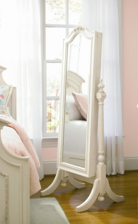 6 Beautiful And Elegant White Floor Mirrors Cute Furniture