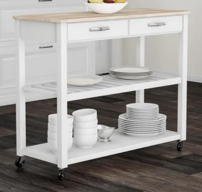 natural-wood-top-kitchen-cart