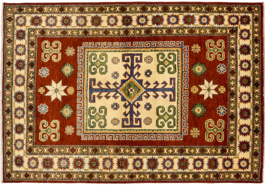 darya-rugs-kazak-hand-knotted-brown-area-rug