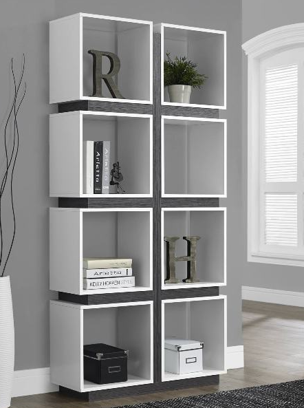 monarch specialty white bookcase