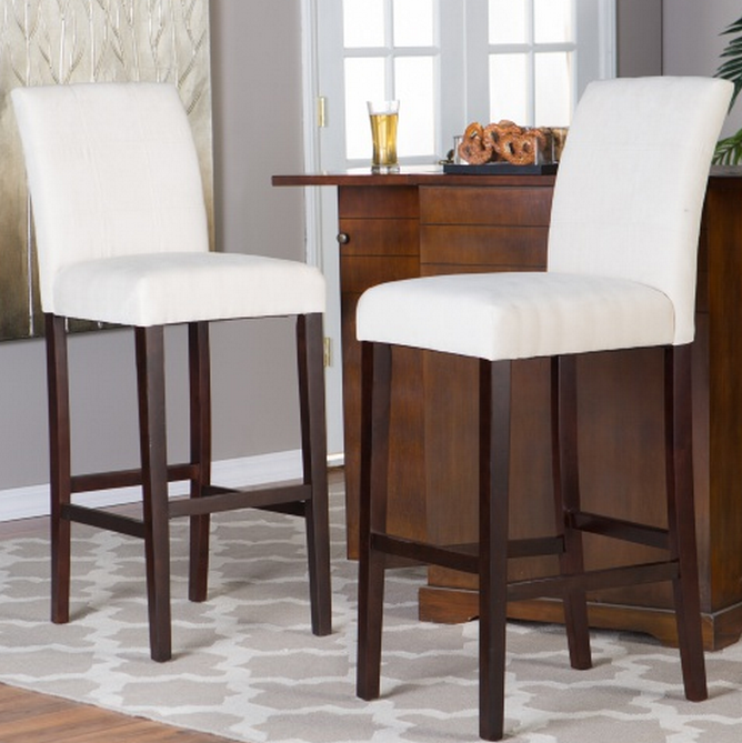 Light Beige Extra Tall Bar Stool Set