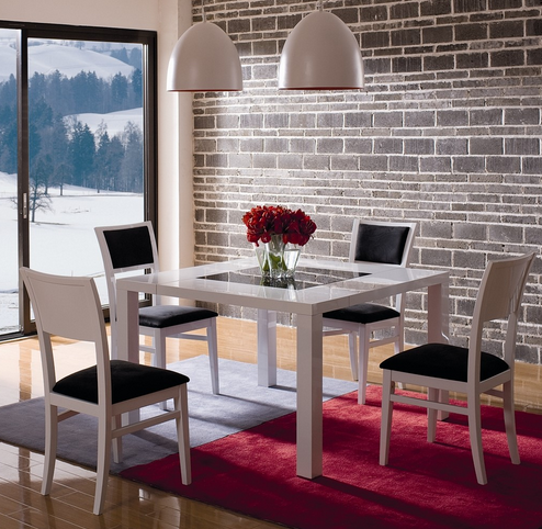 Hokku Designs White Modern Dining Set Chicago