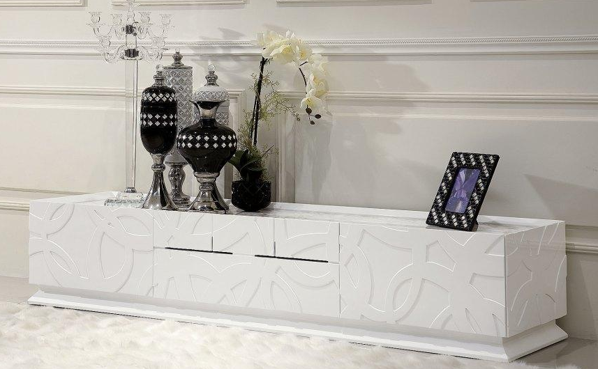 White TV stand by VIG furniture